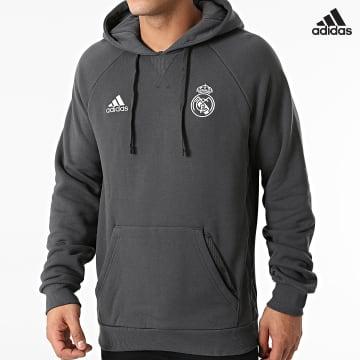 https://laboutiqueofficielle-res.cloudinary.com/image/upload/v1627638668/Desc/Watermark/adidas_performance.svg Adidas Performance - Sweat Capuche Real Madrid GR4276 Gris Anthracite