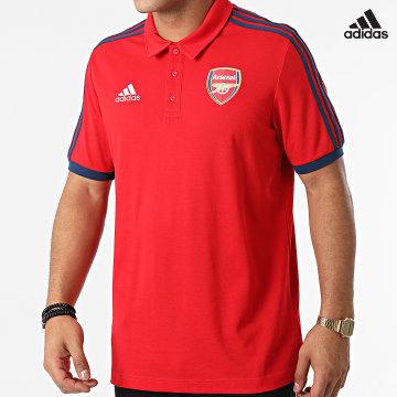 https://laboutiqueofficielle-res.cloudinary.com/image/upload/v1627638668/Desc/Watermark/adidas_performance.svg Adidas Performance - Polo Manches Courtes A Bandes Arsenal FC 3 Stripes GR4206 Rouge