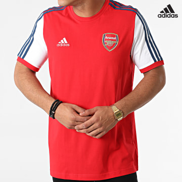https://laboutiqueofficielle-res.cloudinary.com/image/upload/v1627638668/Desc/Watermark/adidas_performance.svg Adidas Performance - Tee Shirt A Bandes Arsenal FC GV5168 Rouge