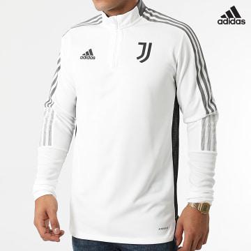 https://laboutiqueofficielle-res.cloudinary.com/image/upload/v1627638668/Desc/Watermark/adidas_performance.svg Adidas Performance - Sweat Col Zippé A Bandes Juventus GR2941 Ecru
