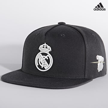 https://laboutiqueofficielle-res.cloudinary.com/image/upload/v1627638668/Desc/Watermark/adidas_performance.svg Adidas Performance - Casquette Snapback Real Madrid Snapback GU0067 Gris Anthracite
