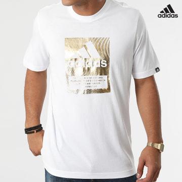https://laboutiqueofficielle-res.cloudinary.com/image/upload/v1627638668/Desc/Watermark/adidas_performance.svg Adidas Performance - Tee Shirt GR6313 Blanc Doré