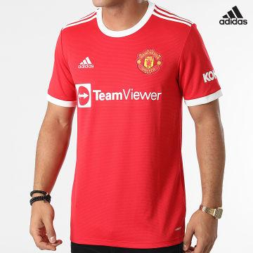 https://laboutiqueofficielle-res.cloudinary.com/image/upload/v1627638668/Desc/Watermark/adidas_performance.svg Adidas Performance - Tee Shirt De Sport A Bandes Manchester United FC H31447 Rouge