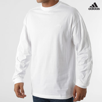 https://laboutiqueofficielle-res.cloudinary.com/image/upload/v1627638668/Desc/Watermark/adidas_performance.svg Adidas Performance - Tee Shirt  Manches Longues H16798 Blanc