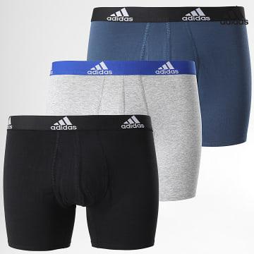 https://laboutiqueofficielle-res.cloudinary.com/image/upload/v1627638668/Desc/Watermark/adidas_performance.svg Adidas Performance - Lot De 3 Boxers Aeroready GN2017 Noir Bleu Gris Chiné