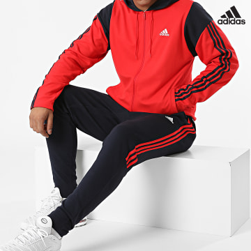 https://laboutiqueofficielle-res.cloudinary.com/image/upload/v1627638668/Desc/Watermark/adidas_performance.svg Adidas Performance - Ensemble De Survêtement A Bandes H42016 Bleu Marine Rouge