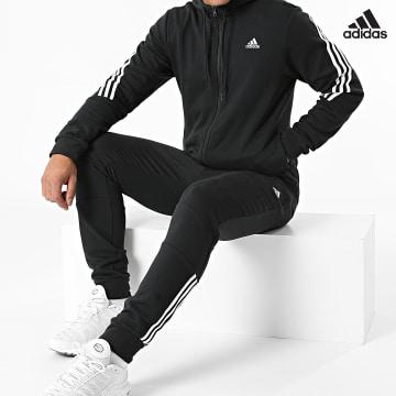 https://laboutiqueofficielle-res.cloudinary.com/image/upload/v1627638668/Desc/Watermark/adidas_performance.svg Adidas Performance - Ensemble De Survêtement A Bandes H42021 Noir