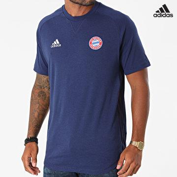 https://laboutiqueofficielle-res.cloudinary.com/image/upload/v1627638668/Desc/Watermark/adidas_performance.svg Adidas Performance - Tee Shirt FC Bayern GR0698 Bleu Marine