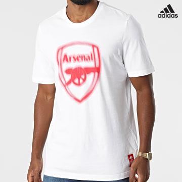 https://laboutiqueofficielle-res.cloudinary.com/image/upload/v1627638668/Desc/Watermark/adidas_performance.svg Adidas Performance - Tee Shirt Arsenal FC GR4198 Ecru