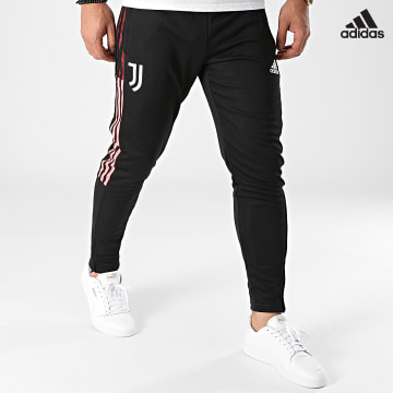 https://laboutiqueofficielle-res.cloudinary.com/image/upload/v1627638668/Desc/Watermark/adidas_performance.svg Adidas Performance - Pantalon Jogging A Bandes Juventus GR2957 Noir Rose Fluo