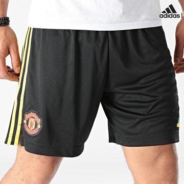 https://laboutiqueofficielle-res.cloudinary.com/image/upload/v1627638668/Desc/Watermark/adidas_performance.svg Adidas Performance - Short De Sport A Bandes Manchester United GM4614 Noir