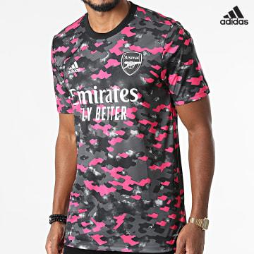 https://laboutiqueofficielle-res.cloudinary.com/image/upload/v1627638668/Desc/Watermark/adidas_performance.svg Adidas Performance - Tee Shirt De Sport Arsenal FC GR4150 Gris Anthracite Rose