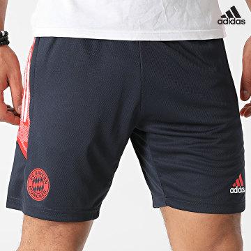 https://laboutiqueofficielle-res.cloudinary.com/image/upload/v1627638668/Desc/Watermark/adidas_performance.svg Adidas Performance - Short Jogging A Bandes Bayern Munich S6928 Bleu Marine
