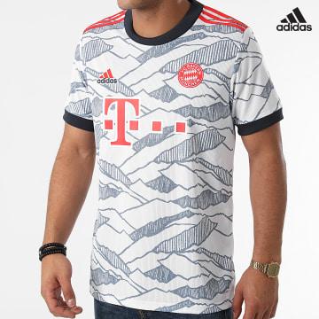 https://laboutiqueofficielle-res.cloudinary.com/image/upload/v1627638668/Desc/Watermark/adidas_performance.svg Adidas Performance - Tee Shirt De Sport Bayern Munich GM5315 Blanc Bleu