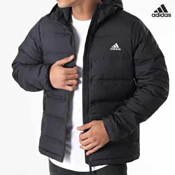 https://laboutiqueofficielle-res.cloudinary.com/image/upload/v1627638668/Desc/Watermark/adidas_performance.svg Adidas Performance - Doudoune Capuche Helionic BQ2001 Noir