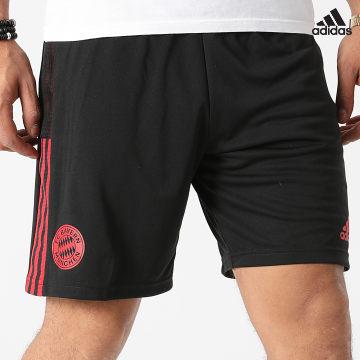 https://laboutiqueofficielle-res.cloudinary.com/image/upload/v1627638668/Desc/Watermark/adidas_performance.svg Adidas Performance - Short Jogging A Bandes Bayern Munich GR0638 Noir Rouge