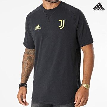 https://laboutiqueofficielle-res.cloudinary.com/image/upload/v1627638668/Desc/Watermark/adidas_performance.svg Adidas Performance - Tee Shirt De Sport A Bandes Juventus GR2912 Noir