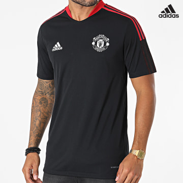 https://laboutiqueofficielle-res.cloudinary.com/image/upload/v1627638668/Desc/Watermark/adidas_performance.svg Adidas Performance - Tee Shirt A Bandes Manchester United GR3819 Noir