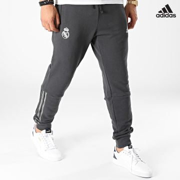https://laboutiqueofficielle-res.cloudinary.com/image/upload/v1627638668/Desc/Watermark/adidas_performance.svg Adidas Performance - Pantalon Jogging A Bandes Real Madrid GR4262 Gris Anthracite