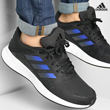 https://laboutiqueofficielle-res.cloudinary.com/image/upload/v1627638668/Desc/Watermark/adidas_performance.svg Adidas Performance - Baskets Duramo SL H04624 Core Black Screen Green