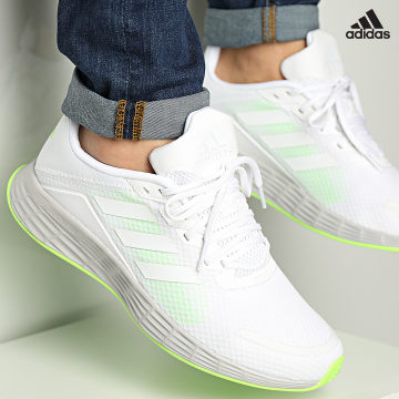 https://laboutiqueofficielle-res.cloudinary.com/image/upload/v1627638668/Desc/Watermark/adidas_performance.svg Adidas Performance - Baskets Duramo SL H04625 Cloud White Signal Green