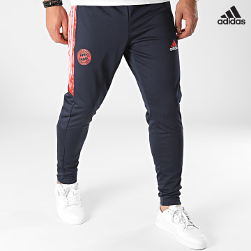 https://laboutiqueofficielle-res.cloudinary.com/image/upload/v1627638668/Desc/Watermark/adidas_performance.svg Adidas Performance - Pantalon Jogging A Bandes FC Bayern GS6929 Bleu Marine
