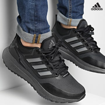 https://laboutiqueofficielle-res.cloudinary.com/image/upload/v1627638668/Desc/Watermark/adidas_performance.svg Adidas Performance - Baskets EQ21 Run Cold.Rdy H00495 Carbon Iron Metallic Core Black