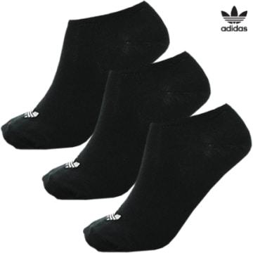 https://laboutiqueofficielle-res.cloudinary.com/image/upload/v1627646526/Desc/Watermark/3adidas_orginal.svg Adidas Originals - Lot De 3 Paires De Chaussettes Invisibles Trefoil Liner S20274 Noir