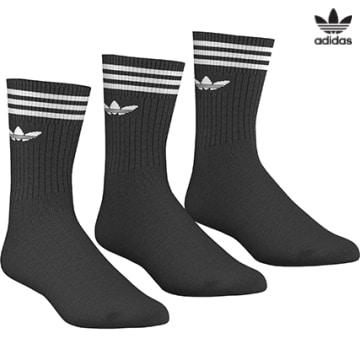 https://laboutiqueofficielle-res.cloudinary.com/image/upload/v1627646526/Desc/Watermark/3adidas_orginal.svg Adidas Originals - Lot De 3 Paires De Chaussettes De Sport S21490 Noir