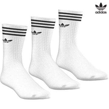 https://laboutiqueofficielle-res.cloudinary.com/image/upload/v1627646526/Desc/Watermark/3adidas_orginal.svg Adidas Originals - Lot De 3 Paires De Chaussettes De Sport S21489 Blanc