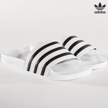https://laboutiqueofficielle-res.cloudinary.com/image/upload/v1627646526/Desc/Watermark/3adidas_orginal.svg Adidas Originals - Claquettes Adilette 280648 White None White