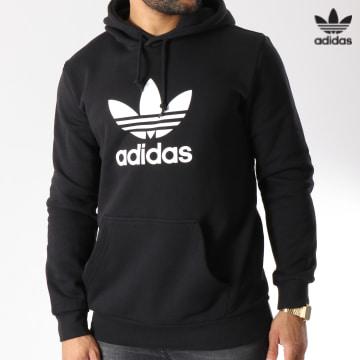 https://laboutiqueofficielle-res.cloudinary.com/image/upload/v1627646526/Desc/Watermark/3adidas_orginal.svg Adidas Originals - Sweat Capuche Trefoil DT7964 Noir Blanc