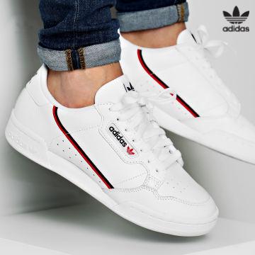 https://laboutiqueofficielle-res.cloudinary.com/image/upload/v1627646526/Desc/Watermark/3adidas_orginal.svg Adidas Originals - Baskets Continental 80 G27706 Footwear White Scarlet Core Navy