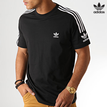 https://laboutiqueofficielle-res.cloudinary.com/image/upload/v1627646526/Desc/Watermark/3adidas_orginal.svg Adidas Originals - Tee Shirt A Bandes Tech ED6116 Noir