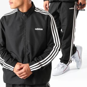 https://laboutiqueofficielle-res.cloudinary.com/image/upload/v1627646526/Desc/Watermark/3adidas_orginal.svg Adidas Originals - Ensemble De Survêtement A Bandes MTS Woven DV2464 Noir Blanc