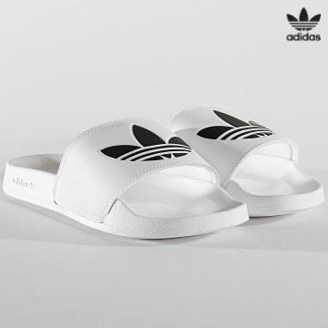 https://laboutiqueofficielle-res.cloudinary.com/image/upload/v1627646526/Desc/Watermark/3adidas_orginal.svg Adidas Originals - Claquettes Adilette Lite FU8297 Blanc