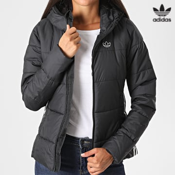 https://laboutiqueofficielle-res.cloudinary.com/image/upload/v1627646526/Desc/Watermark/3adidas_orginal.svg Adidas Originals - Doudoune Capuche Femme A Bandes GD2507 Noir