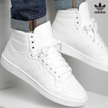 https://laboutiqueofficielle-res.cloudinary.com/image/upload/v1627646526/Desc/Watermark/3adidas_orginal.svg Adidas Originals - Baskets Top Ten Hi FV6131 Footwear White Core White
