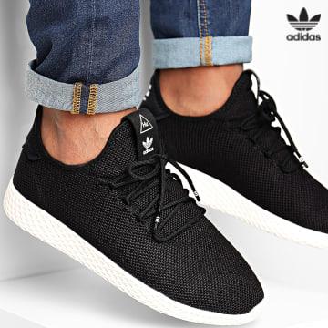 https://laboutiqueofficielle-res.cloudinary.com/image/upload/v1627646526/Desc/Watermark/3adidas_orginal.svg Adidas Originals - Baskets Pharrell Williams Tennis Hu AQ1056 Core Black Cloud White