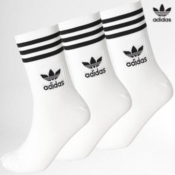 https://laboutiqueofficielle-res.cloudinary.com/image/upload/v1627646526/Desc/Watermark/3adidas_orginal.svg Adidas Originals - Lot De 3 Chaussettes Mid Cut GD3575 Blanc