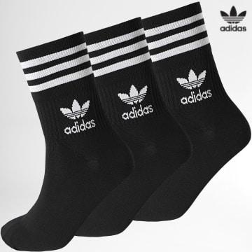 https://laboutiqueofficielle-res.cloudinary.com/image/upload/v1627646526/Desc/Watermark/3adidas_orginal.svg Adidas Originals - Lot De 3 Chaussettes Mid Cut GD3576 Noir