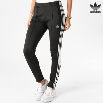 https://laboutiqueofficielle-res.cloudinary.com/image/upload/v1627646526/Desc/Watermark/3adidas_orginal.svg Adidas Originals - Pantalon Jogging Slim Femme A Bandes SST GD2361 Noir