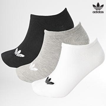 https://laboutiqueofficielle-res.cloudinary.com/image/upload/v1627646526/Desc/Watermark/3adidas_orginal.svg Adidas Originals - Lot De 3 Paires De Chaussettes Basses FT8524 Noir Blanc Gris Chiné