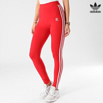 https://laboutiqueofficielle-res.cloudinary.com/image/upload/v1627646526/Desc/Watermark/3adidas_orginal.svg Adidas Originals - Legging Femme A Bandes 3 Stripes GN8076 Rouge