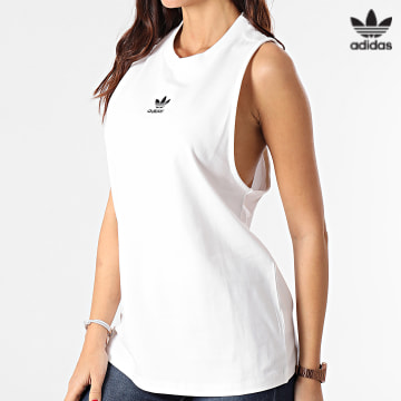 https://laboutiqueofficielle-res.cloudinary.com/image/upload/v1627646526/Desc/Watermark/3adidas_orginal.svg Adidas Originals - Débardeur Femme Adicolor Classics GN2888 Blanc