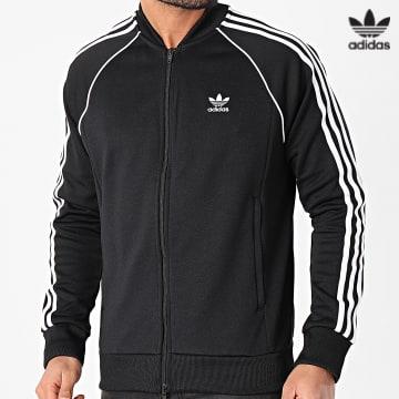 https://laboutiqueofficielle-res.cloudinary.com/image/upload/v1627646526/Desc/Watermark/3adidas_orginal.svg Adidas Originals - Veste Zippée A Bandes Pimeblue SST GF0198 Noir