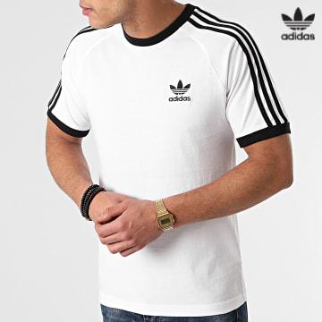 https://laboutiqueofficielle-res.cloudinary.com/image/upload/v1627646526/Desc/Watermark/3adidas_orginal.svg Adidas Originals - Tee Shirt A Bandes 3 Stripes GN3494 Blanc