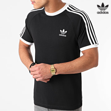 https://laboutiqueofficielle-res.cloudinary.com/image/upload/v1627646526/Desc/Watermark/3adidas_orginal.svg Adidas Originals - Tee Shirt A Bandes 3 Stripes GN3495 Noir