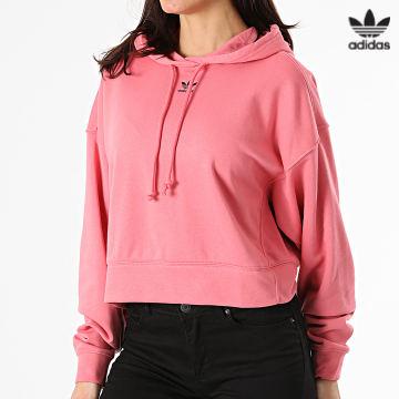 https://laboutiqueofficielle-res.cloudinary.com/image/upload/v1627646526/Desc/Watermark/3adidas_orginal.svg Adidas Originals - Sweat Capuche Femme H13875 Rose