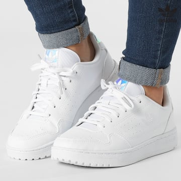https://laboutiqueofficielle-res.cloudinary.com/image/upload/v1627646526/Desc/Watermark/3adidas_orginal.svg Adidas Originals - Baskets Femme NY 90 FY9841 Footwear White Supplier Colour